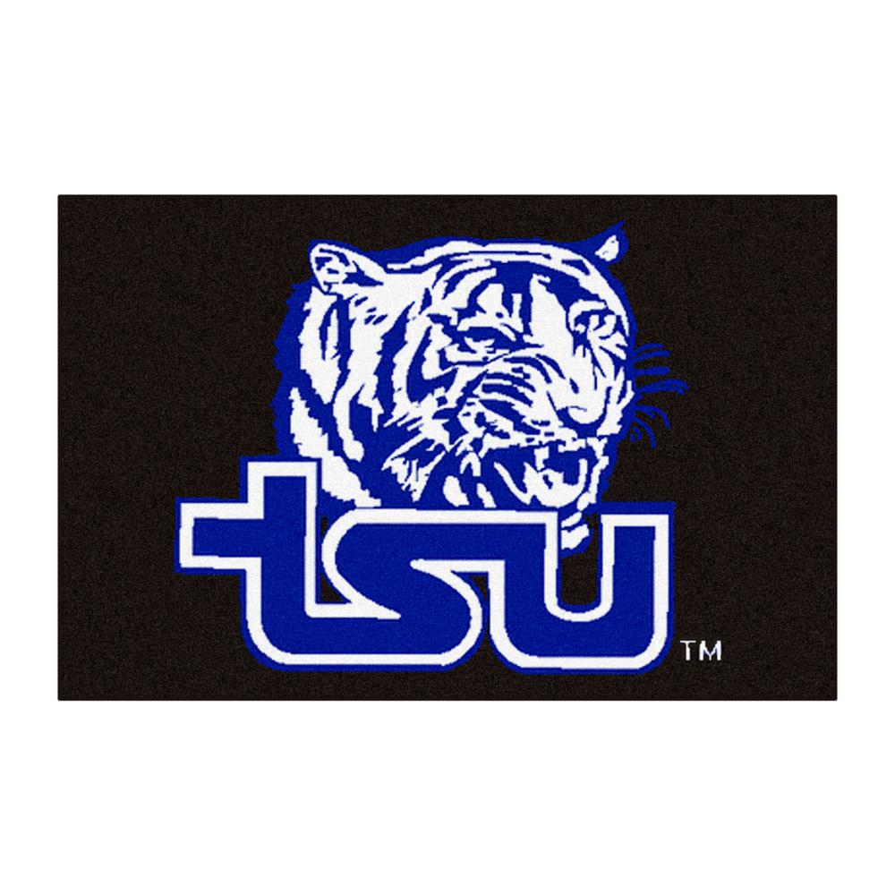 Ncaa - Tennessee State University Black 1 ft. 7 in. x 2 ft. 6 in. Indoor Accent Rug