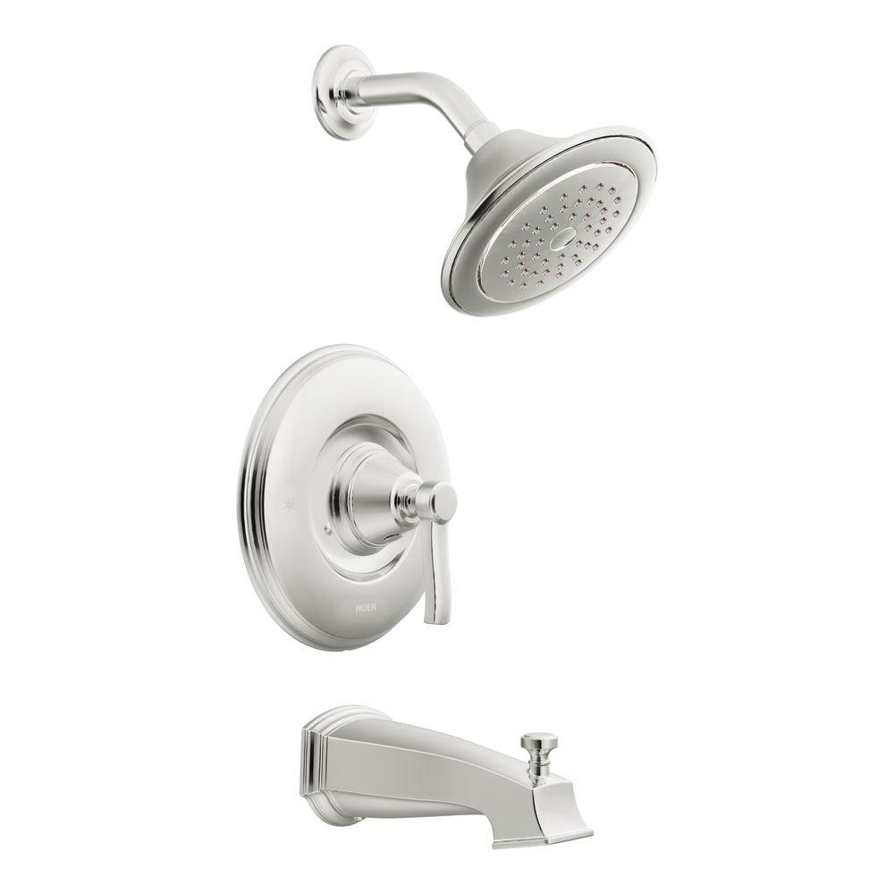 MOEN Rothbury Moentrol Tub and Shower Faucet Trim Kit in Chrome (Valve not included)