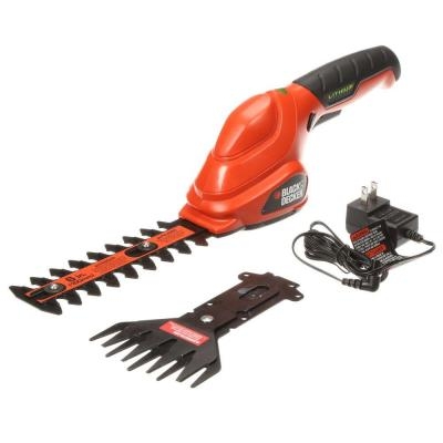 6 in. 3.6V Lithium-Ion Cordless 2-in-1 Compact Garden Shears & Trimmer Combo w/ Rechargeable (1) 1.5Ah Battery & Charger