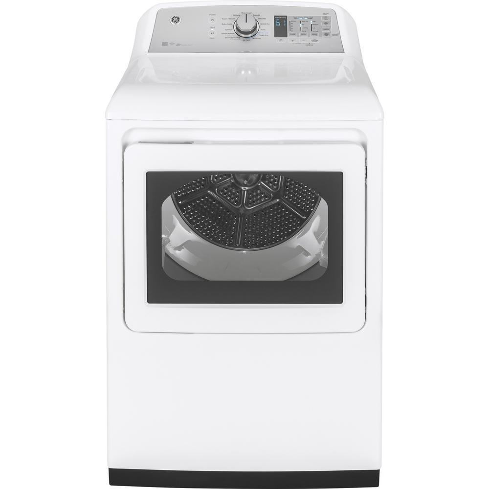 7.4 cu. ft. 240 Volt White Electric Vented Dryer with Steam