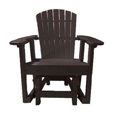 31.5 in. 1-Person Mocha Recycled Poly-Lumber Outdoor Glider