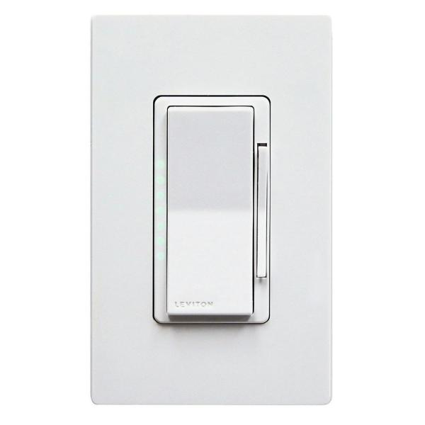 Leviton Decora Smart 600 Watt Single Pole Dimmer Works With Apple Home Kit White R02 Dh6hd 2rw The Home Depot