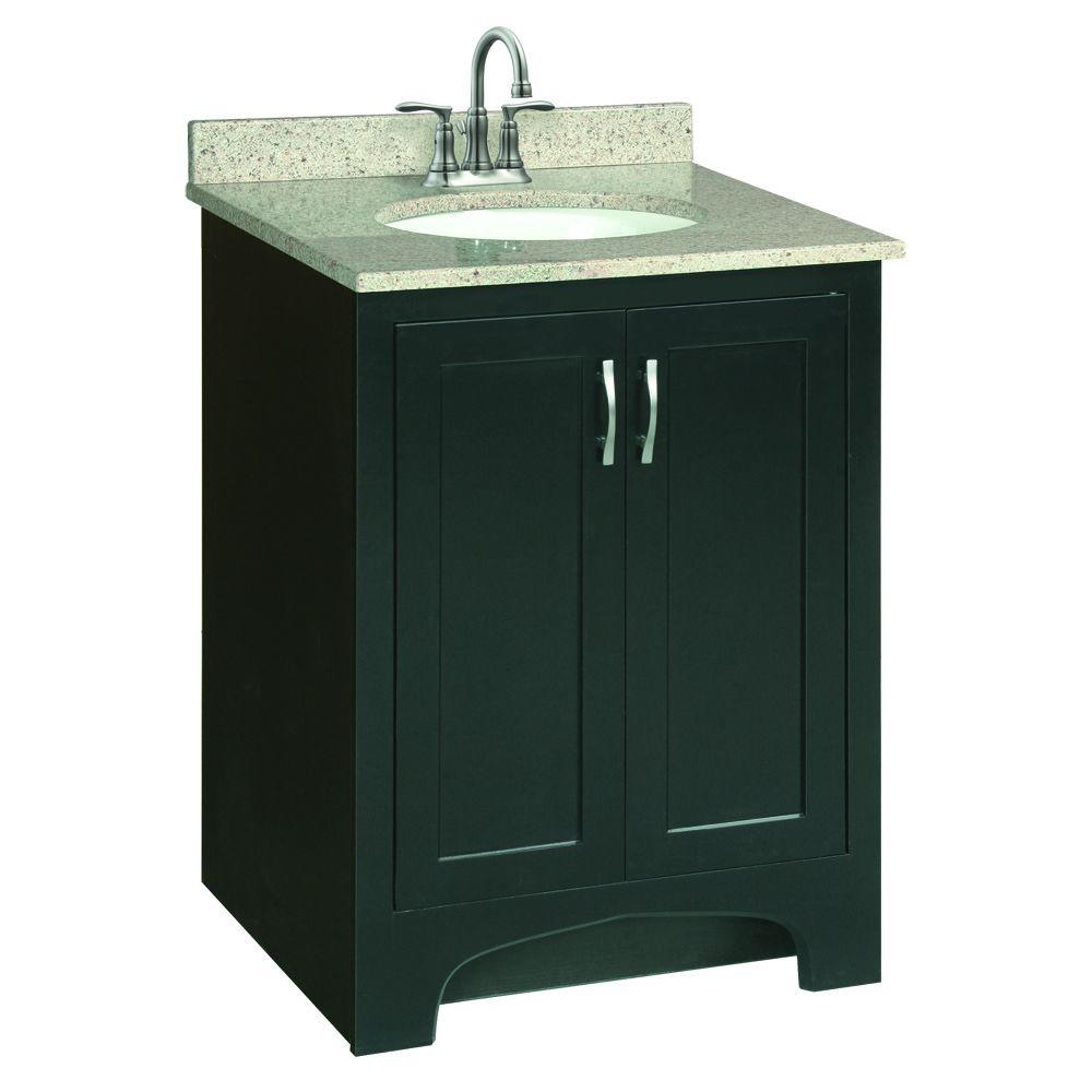 Design House Ventura 24 In W X 21 In D Vanity Cabinet Only In Espresso 539585 The Home Depot