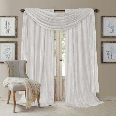 Athena 52 in. W x 108 in. L Polyester Valance in White (Set of 3)