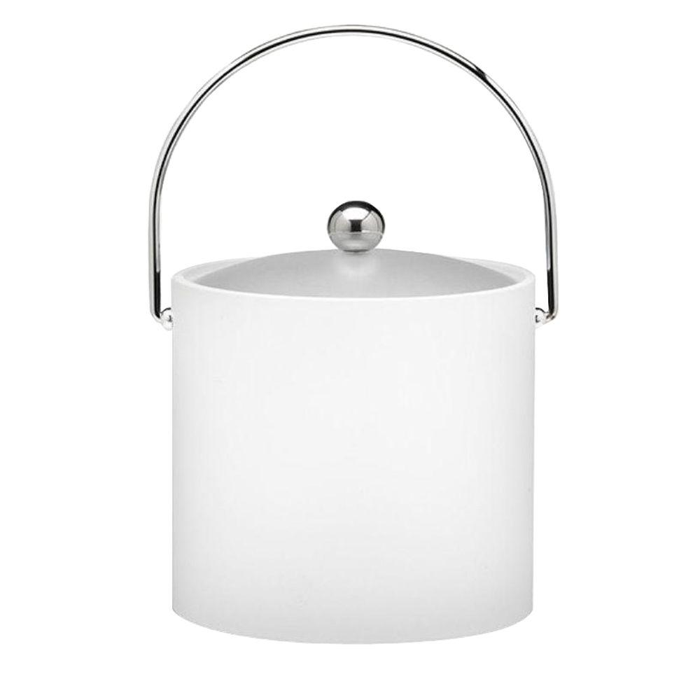 Kraftware Bartenders Choice Fun Colors White 3 Qt. Ice Bucket