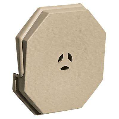 6.625 in. x 6.625 in. #013 Light Almond Surface Mounting Block