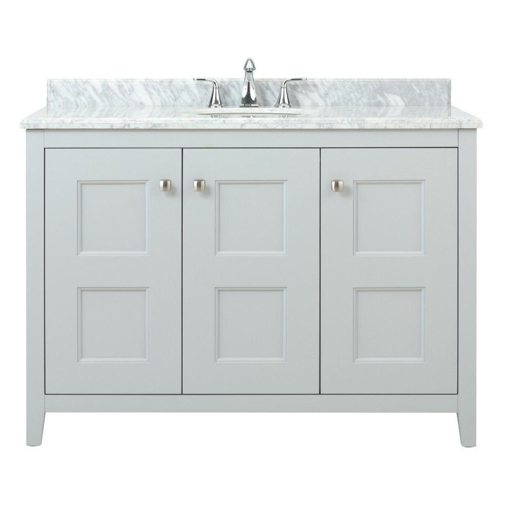 Home Decorators Collection Union Square 48 In W X 22 In D Bath Vanity In Dove Grey With