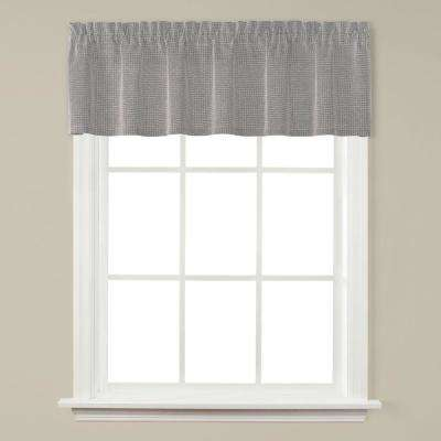 Nelson 58 in. W x 13 in. L Polyester Window Valance in Silver