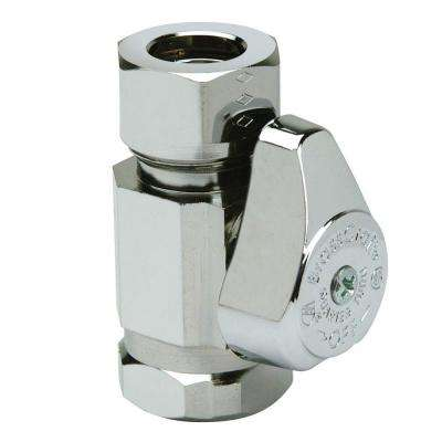 1/2 in. FIP Inlet x 7/16 in. & 1/2 in. O.D. Slip-Joint Outlet 1/4-Turn Straight Valve