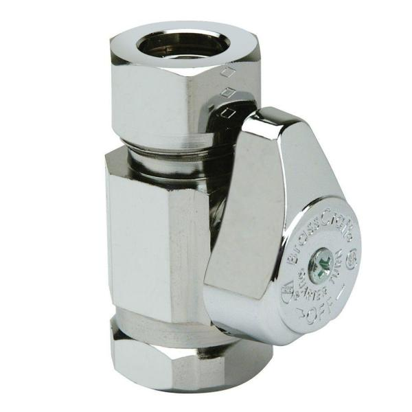 1/2 in. FIP Inlet x 7/16 in. & 1/2 in. Slip-Joint Outlet 1/4-Turn Straight Valve