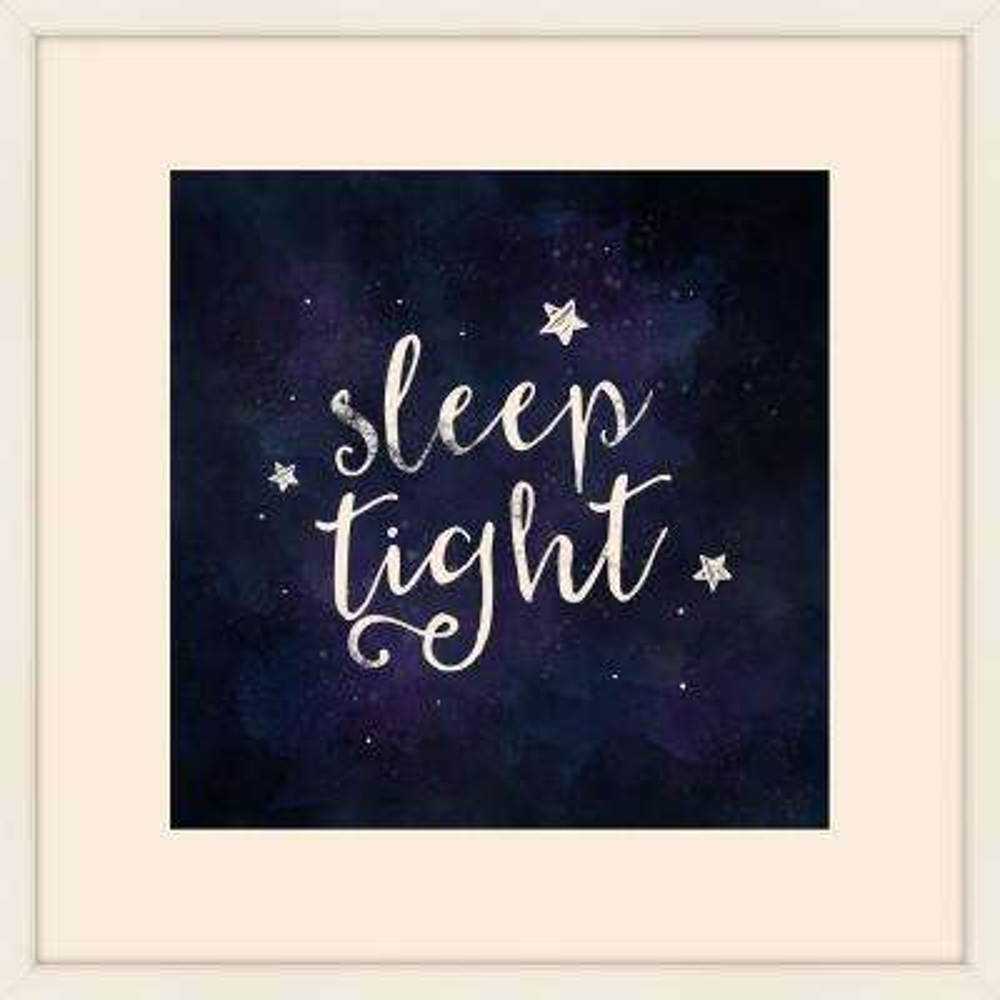 "22 in. x 22 in. ""Sleep Tight"" Framed Giclee Print Wall Art"