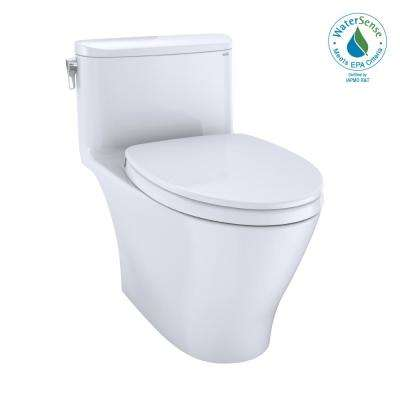 Nexus 1-Piece 1.28 GPF Single Flush Elongated Universal Height Toilet with CEFIONTECT in Cotton White