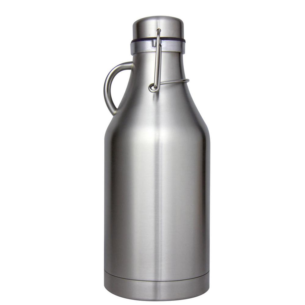 The Grizzly Stainless Steel 32 oz. Double Wall Flip Top Beer