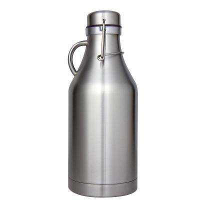 The Grizzly Stainless Steel 32 oz. Double Wall Flip Top Beer Growler