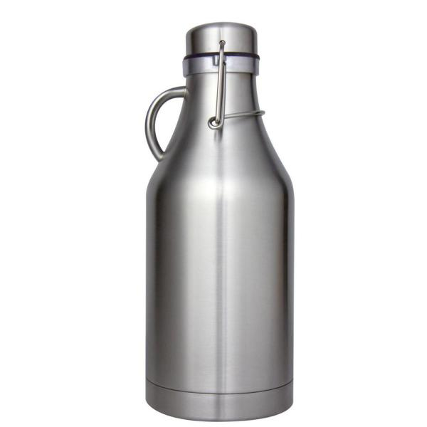 Kegco The Grizzly Stainless Steel 32 oz. Double Wall Flip Top Beer Growler