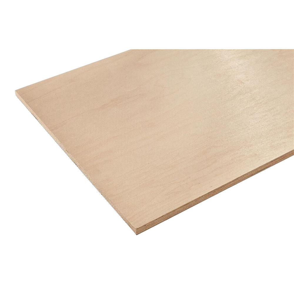 3/4 in. x 4 ft. x 4 ft. Europly Maple Plywood Project Pan...