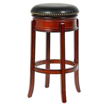 Bristol 29 in. Cherry Swivel Bar Stool