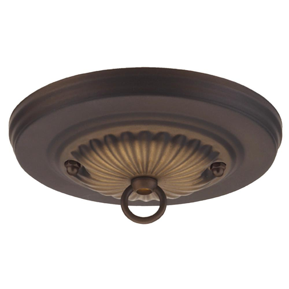 Commercial Electric 5 in. Oil Rubbed Bronze Traditional Canopy Kit