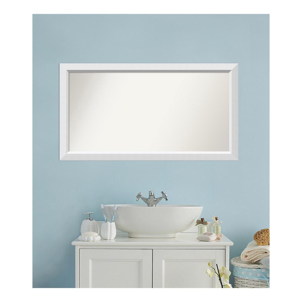Amanti Art 25 in. x 46 in. Blanco White Wood Framed Mirror was $470.11 now $235.05 (50.0% off)