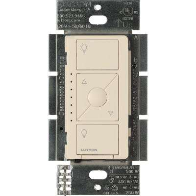 Caseta Wireless Electronic Low-Voltage In-Wall Dimmer, Light Almond