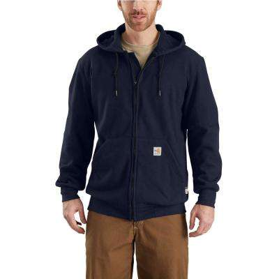 Men's Small Dark Navy Modacrylic/Lyocell/Aramid Fleece FR HW Zip Front Sweatshirt
