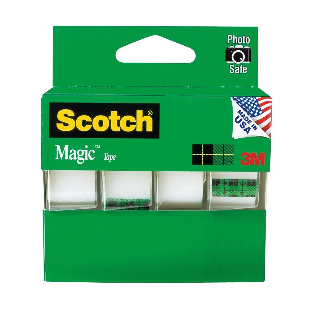 3M Scotch 3/4 in. x 8-1/3 yds. Magic Tapes (4-Pack)