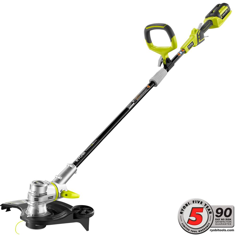 Ryobi 40-Volt Lithium-Ion Cordless String Trimmer/Edger - 2.6 Ah Battery and Charger Included