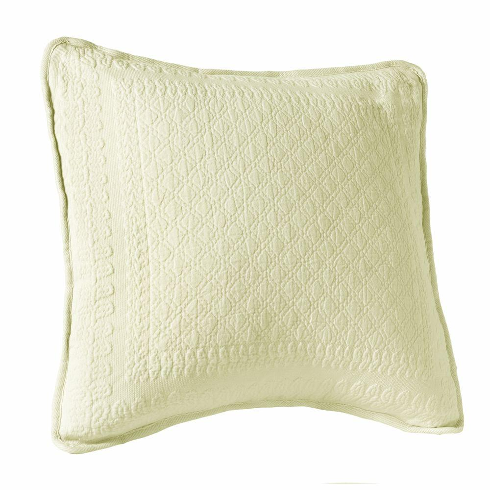 Historic Charleston Collection King Charles 18 in. Ivory Square Decorative Pillow