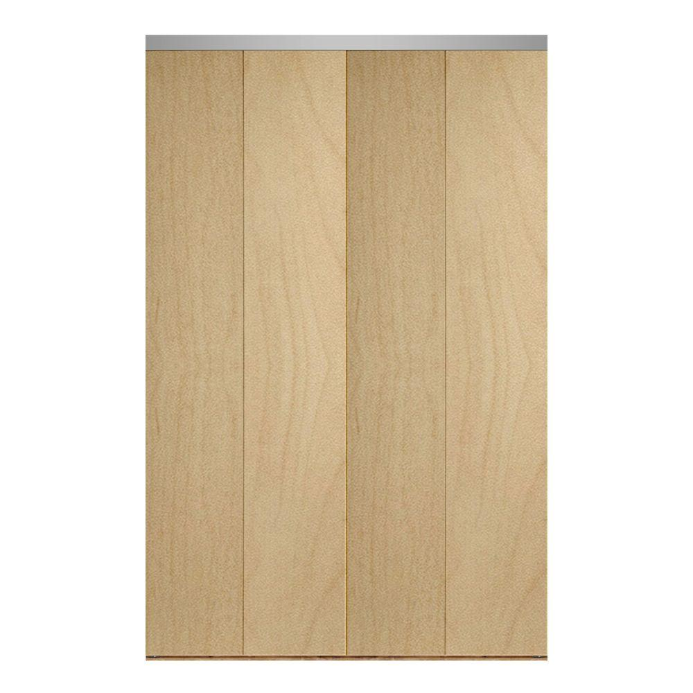 48 in. x 80 in. Smooth Flush Stain Grade Maple Solid