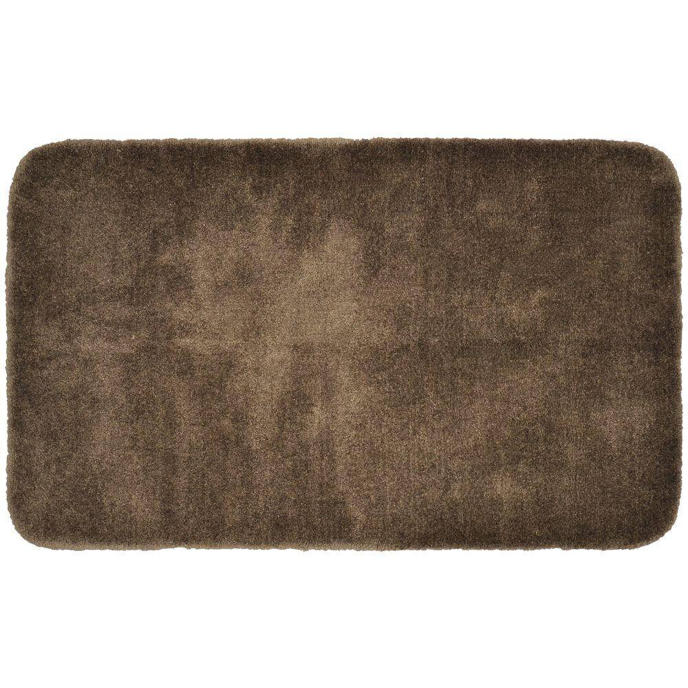 Garland Rug Finest Luxury Chocolate 30 In X 50 In Washable Bathroom Accent Rug Pre 3050 14