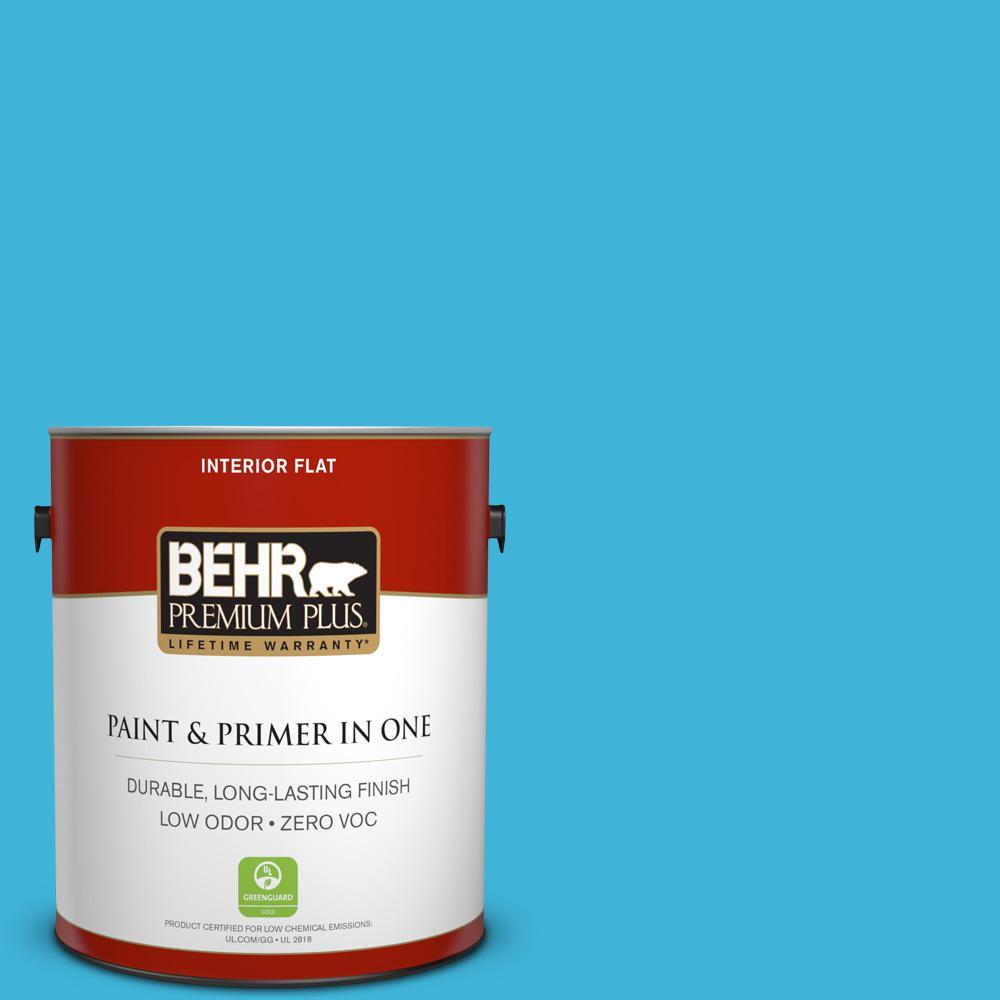 BEHR Premium Plus 1-gal. #P490-4 Aztec Sky Flat Interior Paint