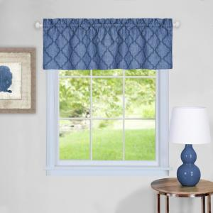 Achim Colby 14 inch L Polyester Valance in Blue by Achim