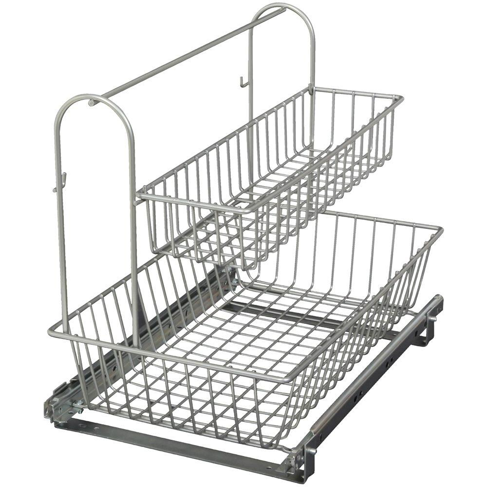 Knape & Vogt 15.44 in. x 12.13 in. x 18.75 in. Multi-Use Basket with Handle Accessory Basket