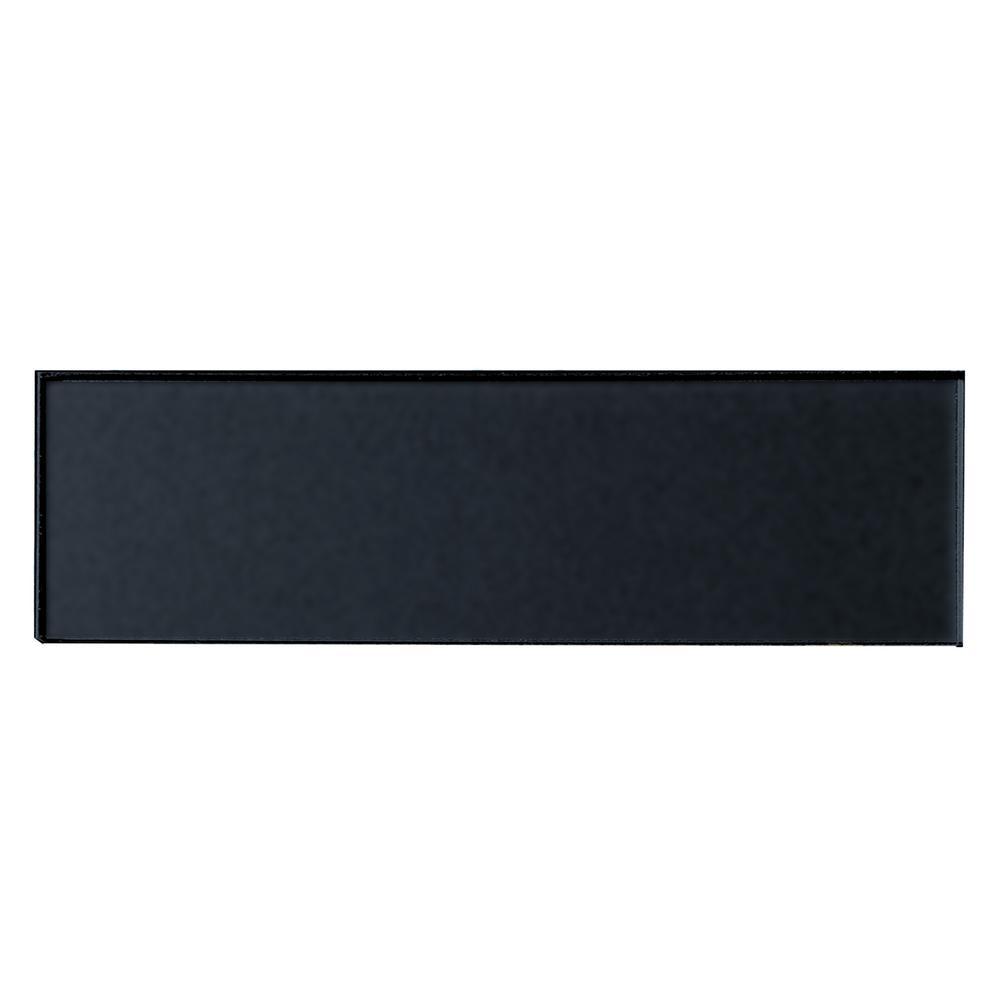ABOLOS Subway 3 in. x 12 in. Handmade Metallic Black Matte
