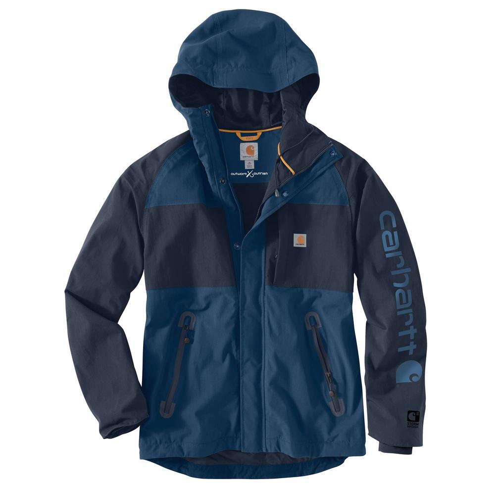 Men'S Medium Dark Blue/Navy Nylon Angler Jacket