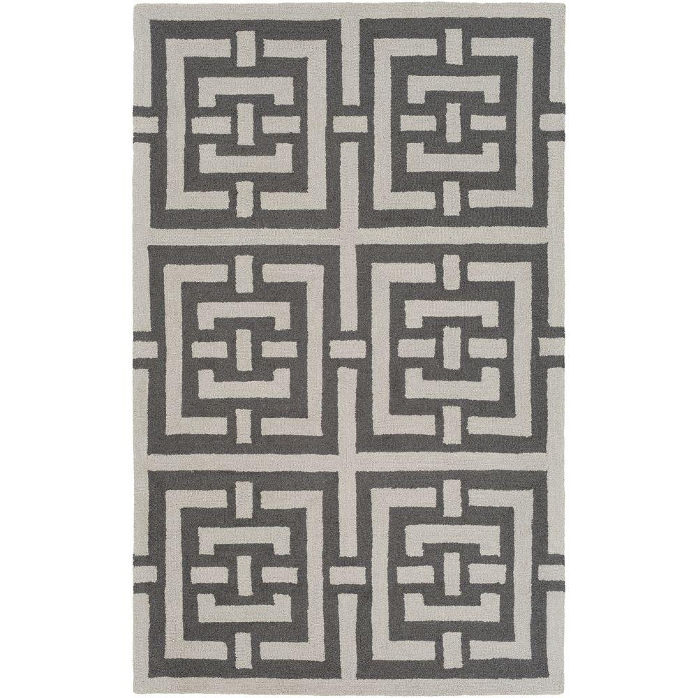 Impression Libby Gray 5 ft. x 8 ft. Indoor Area Rug
