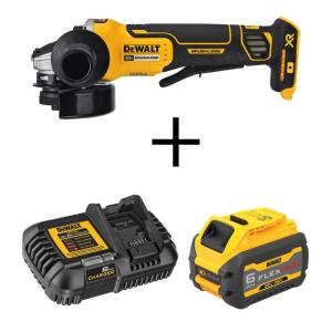 Deals on DeWalt 20-V Max 4-1/2 Angle Grinder w/Flexvolt Advantage, Battery