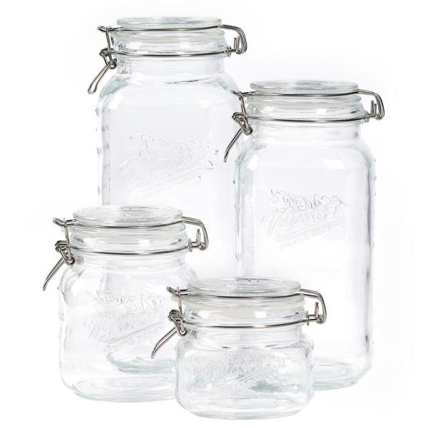 4-Piece Glass Jar Set