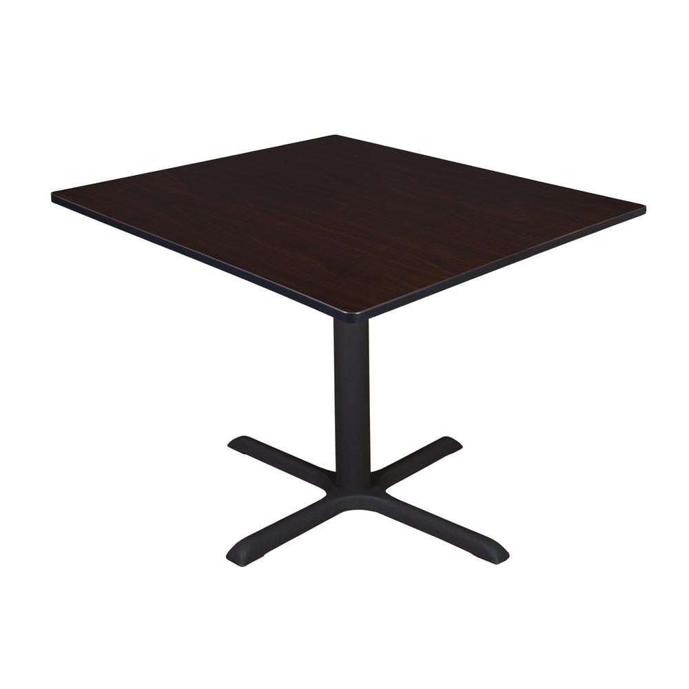 Cain Mocha Walnut Square 48 in. Breakroom Table