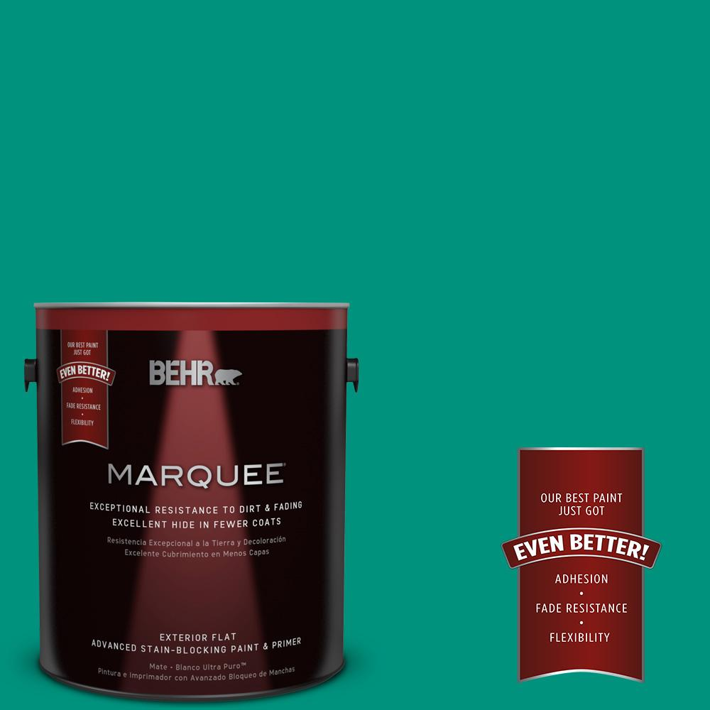 BEHR MARQUEE 1-gal. #S-G-480 Aqua Waters Flat Exterior Paint