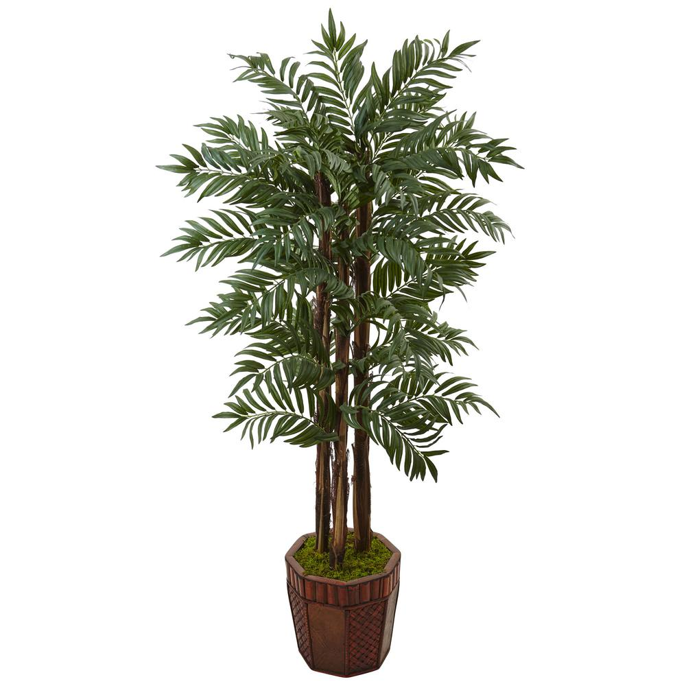 Nearly Natural Indoor Parlour Palm Artificial Tree in Bam...