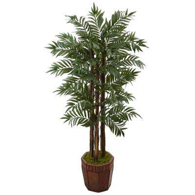 Indoor Parlour Palm Artificial Tree in Bamboo Planter