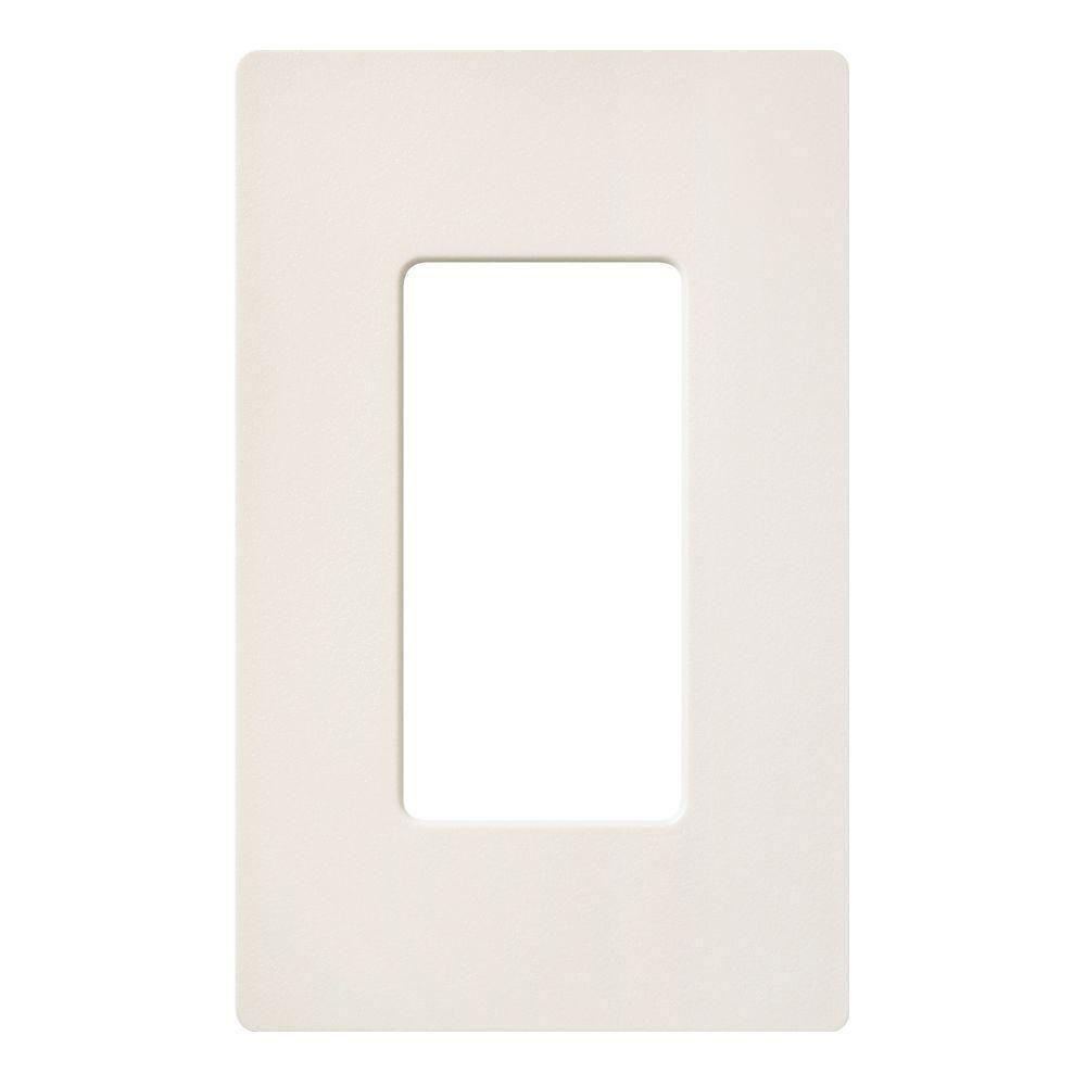 Lutron Claro 1 Gang Decora Wall Plate - Biscuit