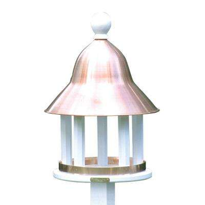 Lazy Hill Farm Designs Bell Bird Feeder with Polished Copper Roof