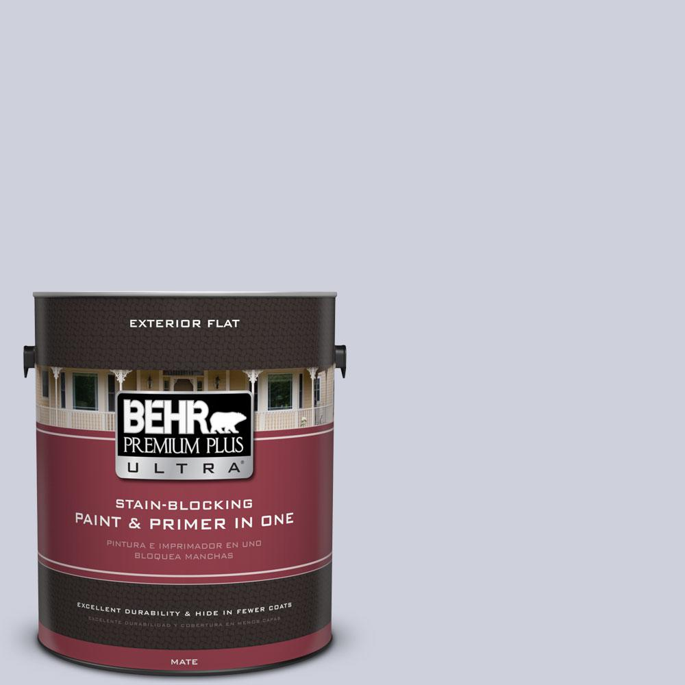BEHR Premium Plus Ultra 1-gal. #620E-2 Naturally Calm Flat Exterior Paint