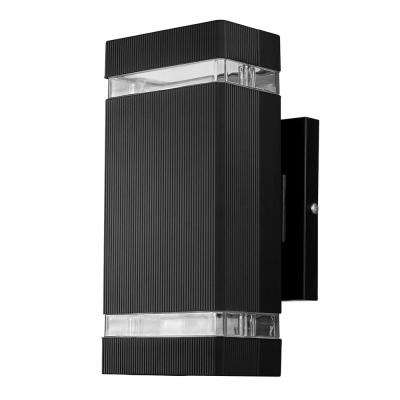 Zion 1-Light Black Integrated LED Outdoor Wall Mounted Sconce