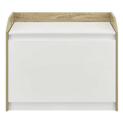 Kisker Hamper, Weathered Oak/White