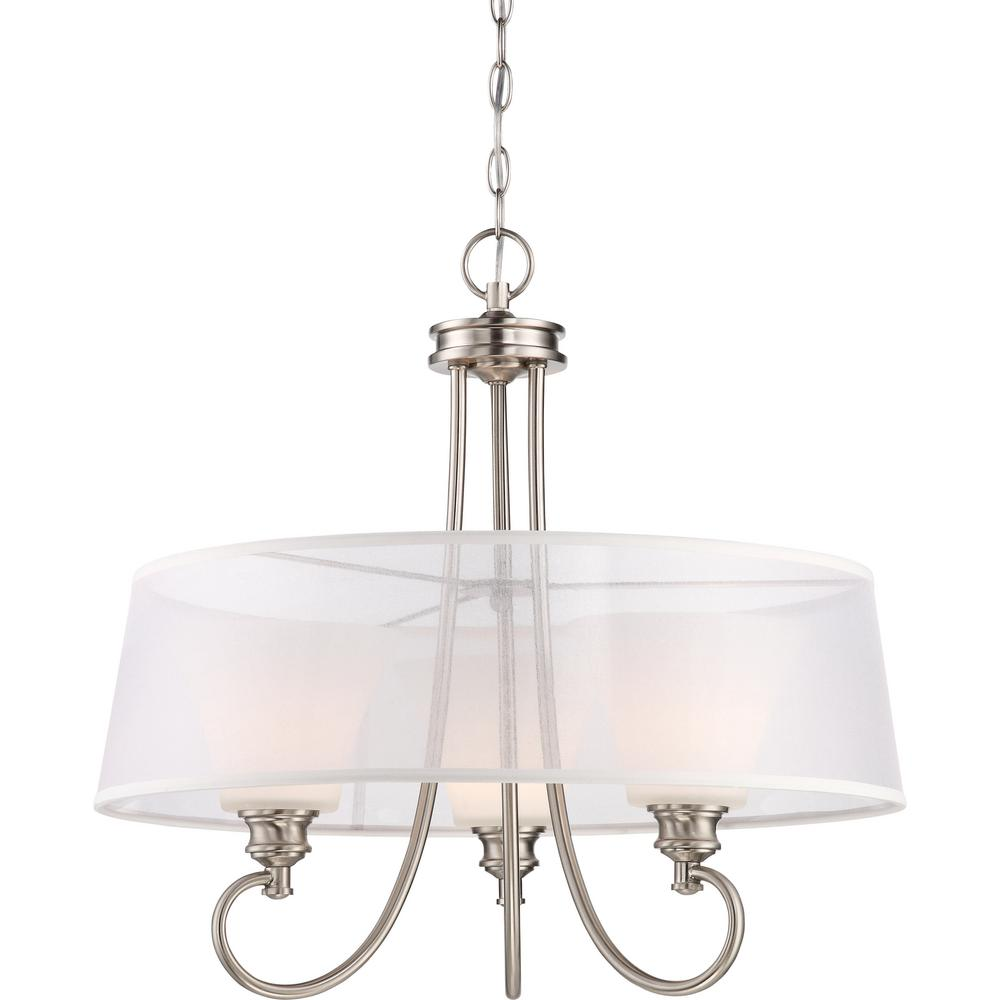 Home Decorators Collection Boswell Quarter Collection 5 Light Brushed Nickel Pendant With