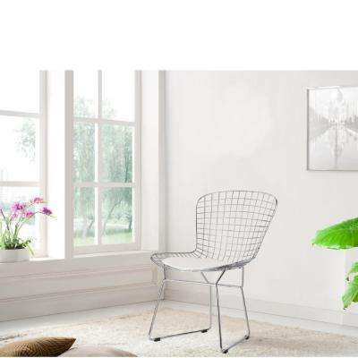 Wire White Side Chair