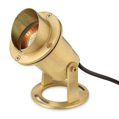 Low-Voltage 50-Watt Natural Solid Brass Submersible MR 16 Pond Light